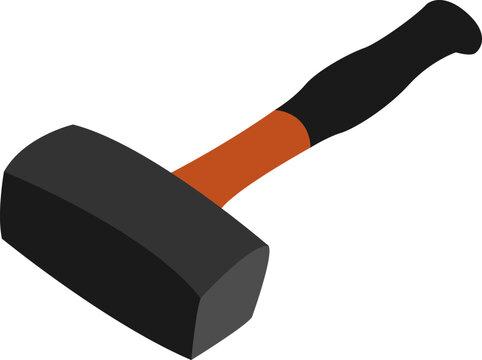 Sledgehammer, illustration, vector on white background.