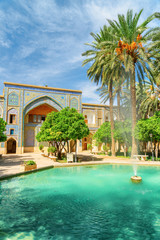 Foto op Canvas Barcelona Fabulous fountain in the middle of traditional Persian courtyard