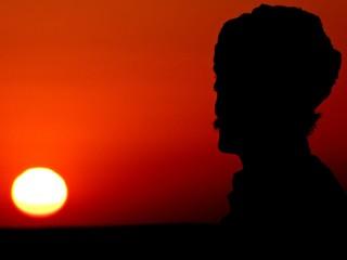 Foto auf Leinwand Rot kubanischen Inde Rajastan Sunset people jaisalmer
