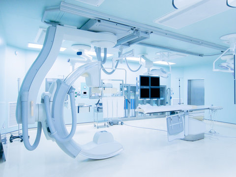 cath lab is an examination room in a hospital or clinic with diagnostic imaging equipment used to visualize the arteries of the heart.