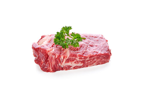 beef isolated on white background