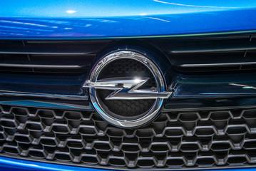 Logo of Opel on a car