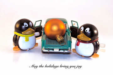 Penguins and Ornament Holiday Greeting