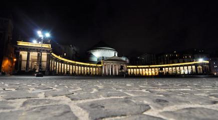 The main square, Piazza Plebiscito, in Naples, Italy