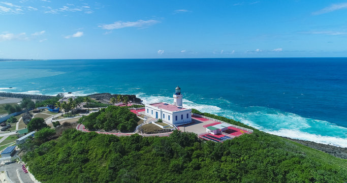 Aerial view of the Arecibo Lighthouse in Puerto Rico