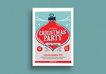 Christmas Party Event Flyer Layout