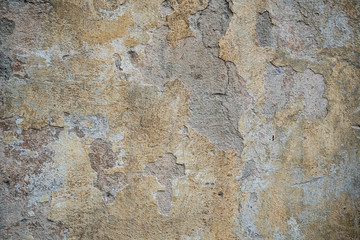 Foto op Plexiglas Oude vuile getextureerde muur Texture of an old wall covered with paint. Background image of a worn paint coated surface