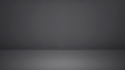 Empty gray studio room background. Use as montage for product display
