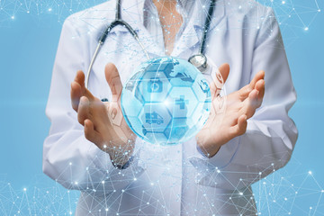 The concept of support and development of global medicine.