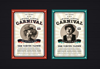 Vintage Carnival Flyer Layout