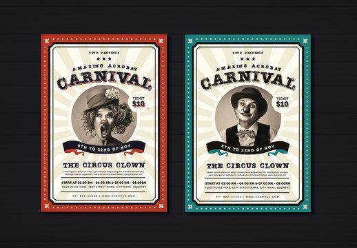 Vintage Carnival Flyer Layout