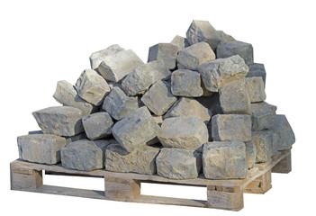 bricks on construction site