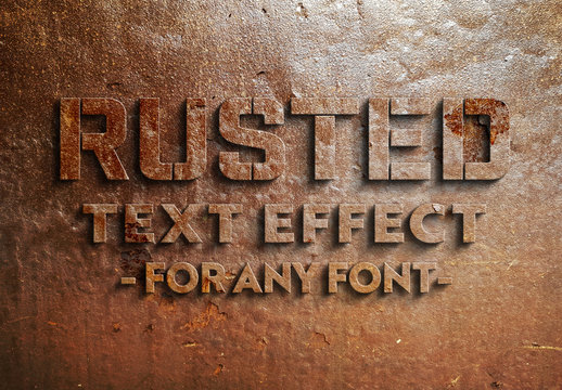 Rusted Text Effect