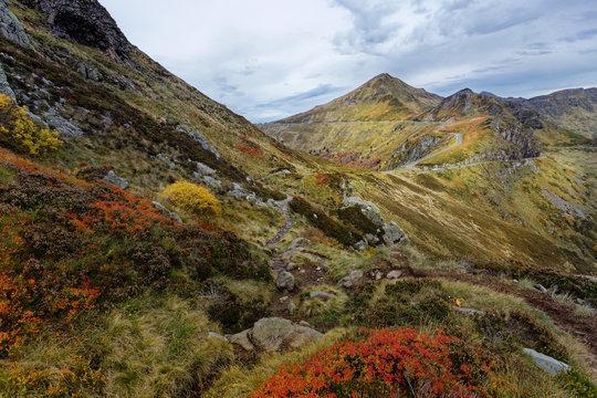 Puy Mary montagne du Cantal en automne