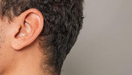 Fototapeta ear macro close-up shot hearing concept obraz