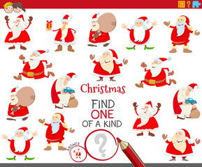 one of a kind task with Santa Claus characters