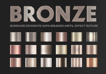 Bronze and Copper Gradient Text Effects