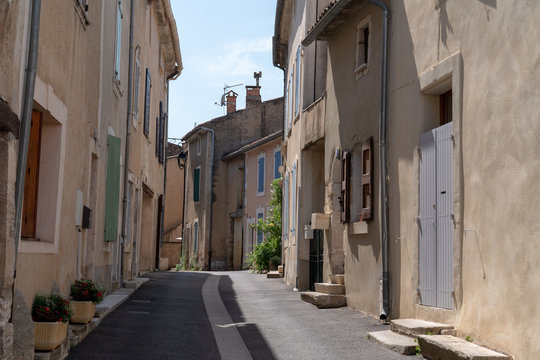 bonnieux typical street in historic hill village Provence France