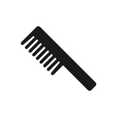 Comb icon on white background. Flat comb illustration, beauty salon, hairdresser symbol for modern website and mobile application UI design.