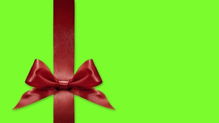 Fotomurales - black friday gift card, ribbon bows change colors isolated on green screen background template with copy space