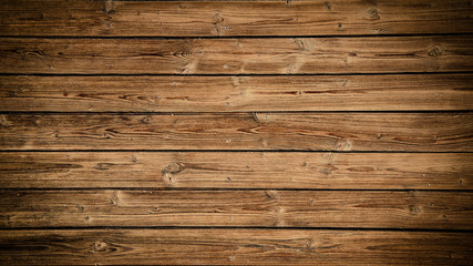 Printed roller blinds Wood old brown rustic dark grunge wooden texture - wood background banner