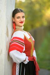 Slovak folklore. Slovak folk dancer