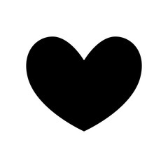 silhouette of heart love isolated icon vector illustration design