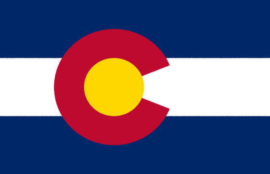 Glossy flag of the state of colorado