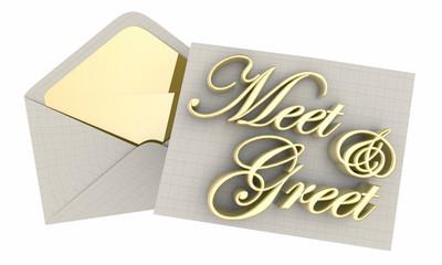 Meet and Greet Invitation Event Envelope Words 3d Illustration
