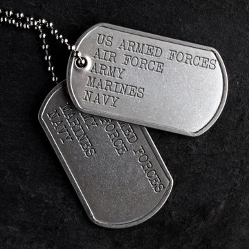 Old military dog tags