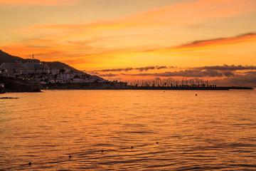 Orange dawn and sunrise