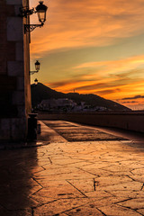 Colouful dawn sunrise