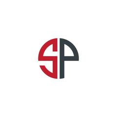 Initial Letter SP Creative Design Logo