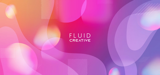 Colorful geometric background. Abstract fluid shapes composition. Eps10 vector. Wall mural