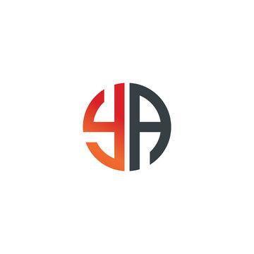 Initial Letter YA Creative Design Logo