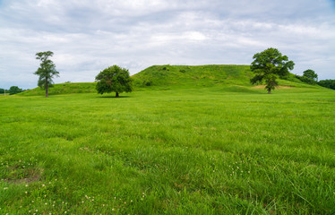 View of Cahokia Mounds State Historic Site