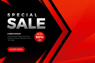 Modern Special Sale Design for business. Promotion banner discount template - Vector