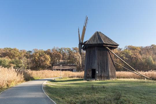Traditional Romanian windmill