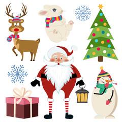 Beautiful flat design Christmas collection