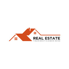 real estate logo design, vector illustration concept, eps 10