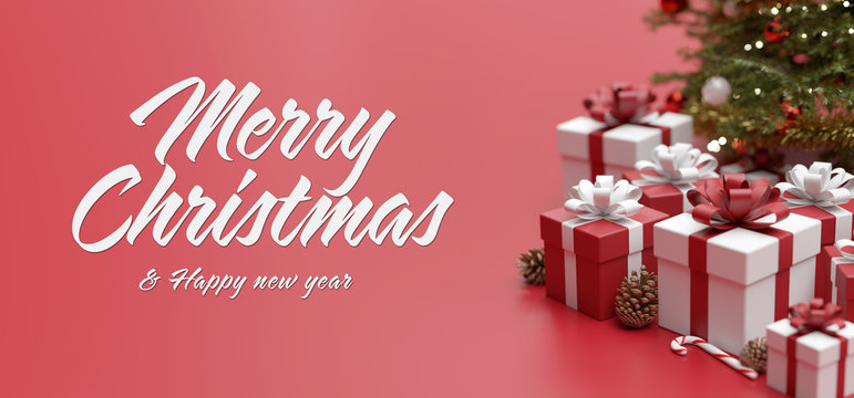 Christmas background with ornament and light atmosphere