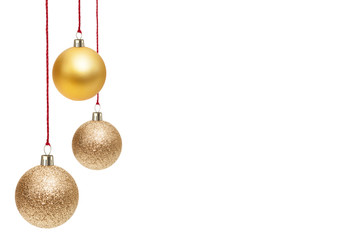 Christmas Ornaments isolated on a white background.