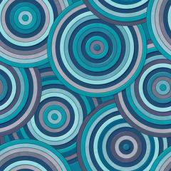 Marine circle seamless pattern