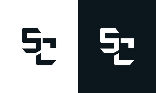 Modern abstract letter SC logo. This logo icon incorporate with two abstract shape in the creative process.