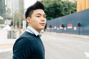 Young Asian Man on the street