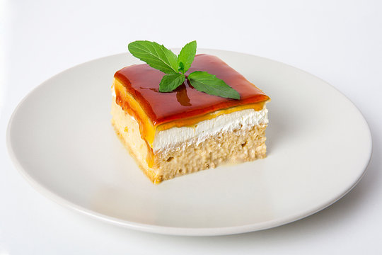 Turkish Traditional Caramel Trilece Dairy Dessert Cake