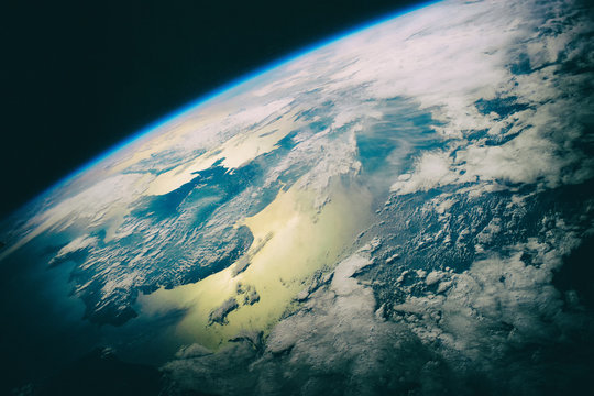 Beautiful earth from space. Space beauty. The elements of this i