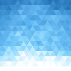 Abstract triangular background. Blue geometric pattern.