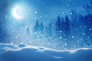 Winter  background .Merry Christmas and happy New Year greeting card with copy-space. Christmas...