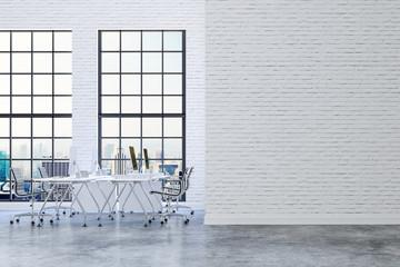 3d render of modern meeting room interior